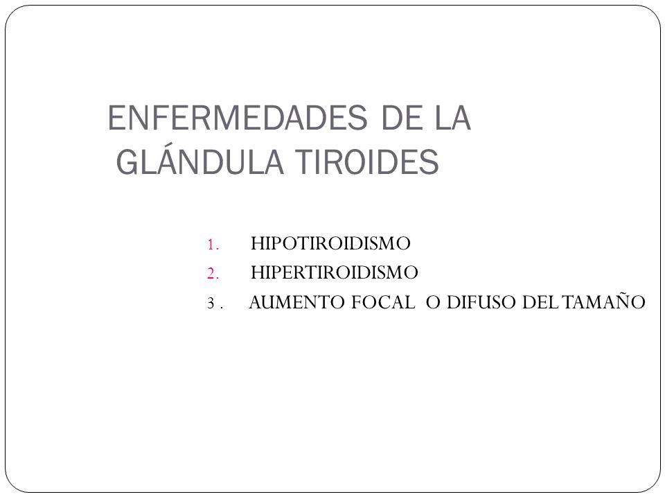 ENFERMEDADES DE LA GLÁNDULA TIROIDES 1.HIPOTIROIDISMO 2.