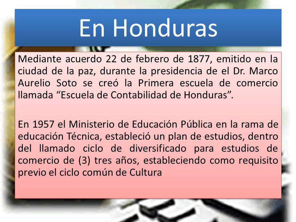 En Honduras Mediante acuerdo 22 de febrero de 1877, emitido en la ciudad de la paz, durante la presidencia de el Dr.