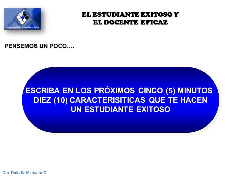 ESCRIBA EN LOS PRÓXIMOS CINCO (5) MINUTOS DIEZ (10) CARACTERISITICAS QUE TE HACEN UN ESTUDIANTE EXITOSO ESCRIBA EN LOS PRÓXIMOS CINCO (5) MINUTOS DIEZ