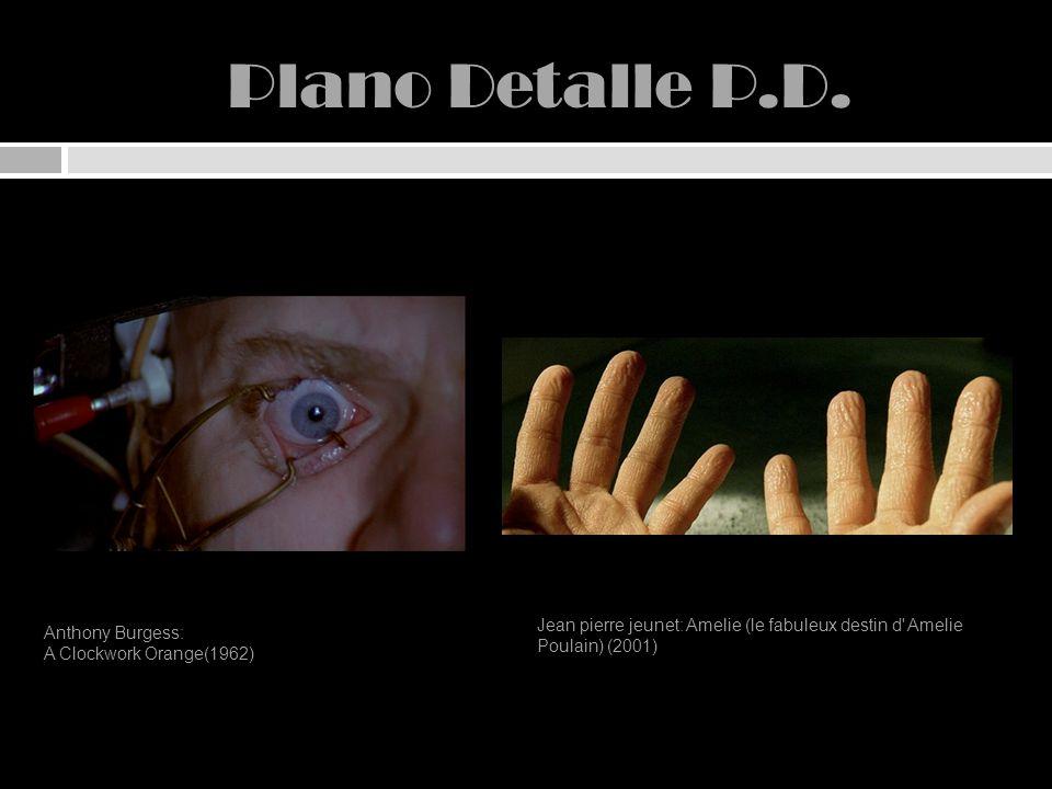 Plano Detalle P.D. Anthony Burgess: A Clockwork Orange(1962) Jean pierre jeunet: Amelie (le fabuleux destin d' Amelie Poulain) (2001)