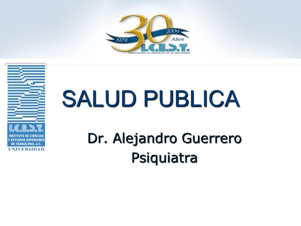 SALUD PUBLICA Dr. Alejandro Guerrero Psiquiatra