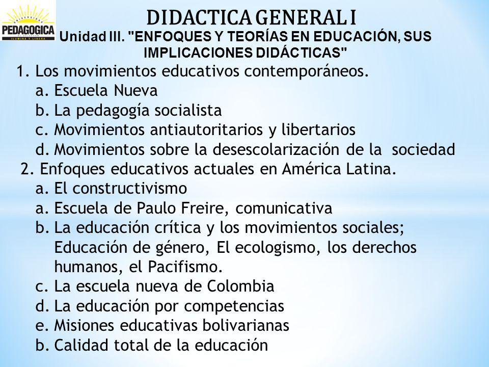 DIDACTICA GENERAL I Unidad III.