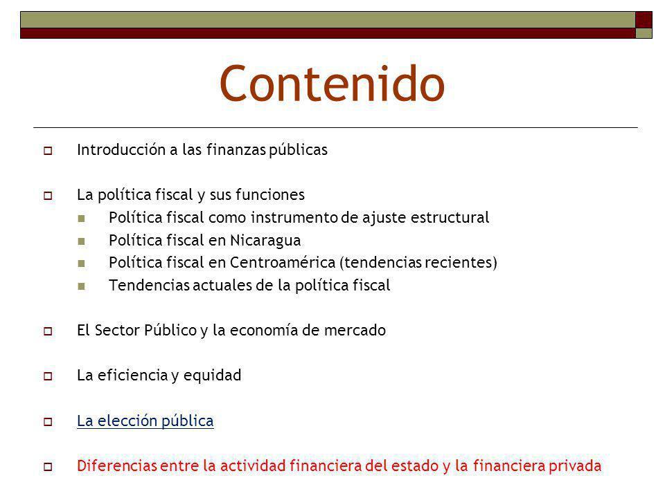 Política fiscal El sector público en la economia de mercado