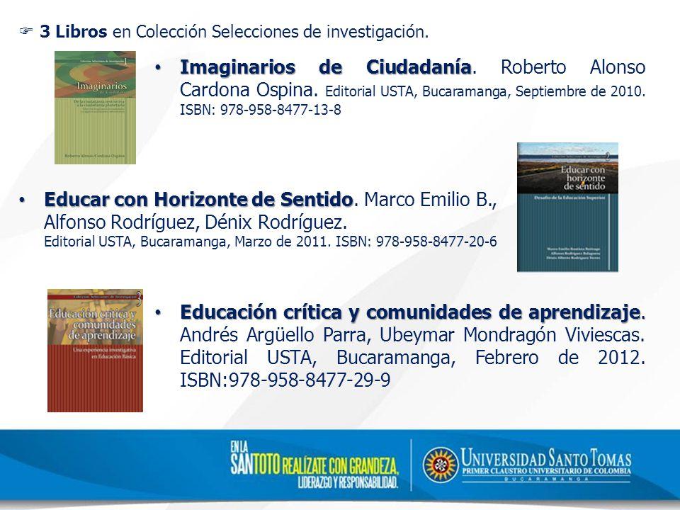 3 Libros en Colección Selecciones de investigación.