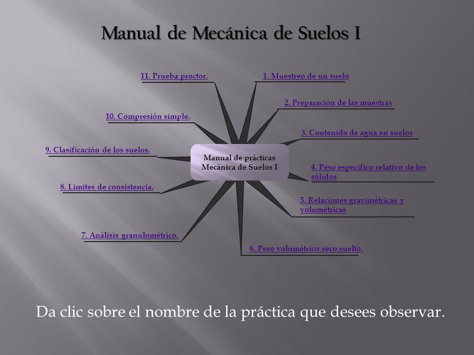Manual de Mecánica de Suelos I 2.Preparación de las muestras 1.