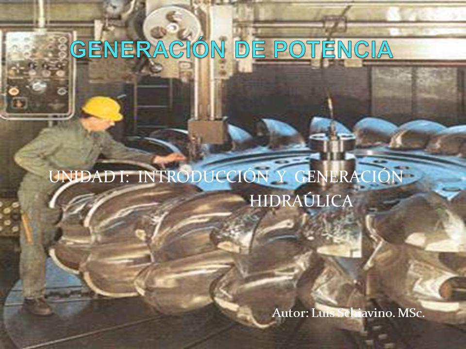 Turbinas hidráulicas Definición Clasificación Carta de aplicación