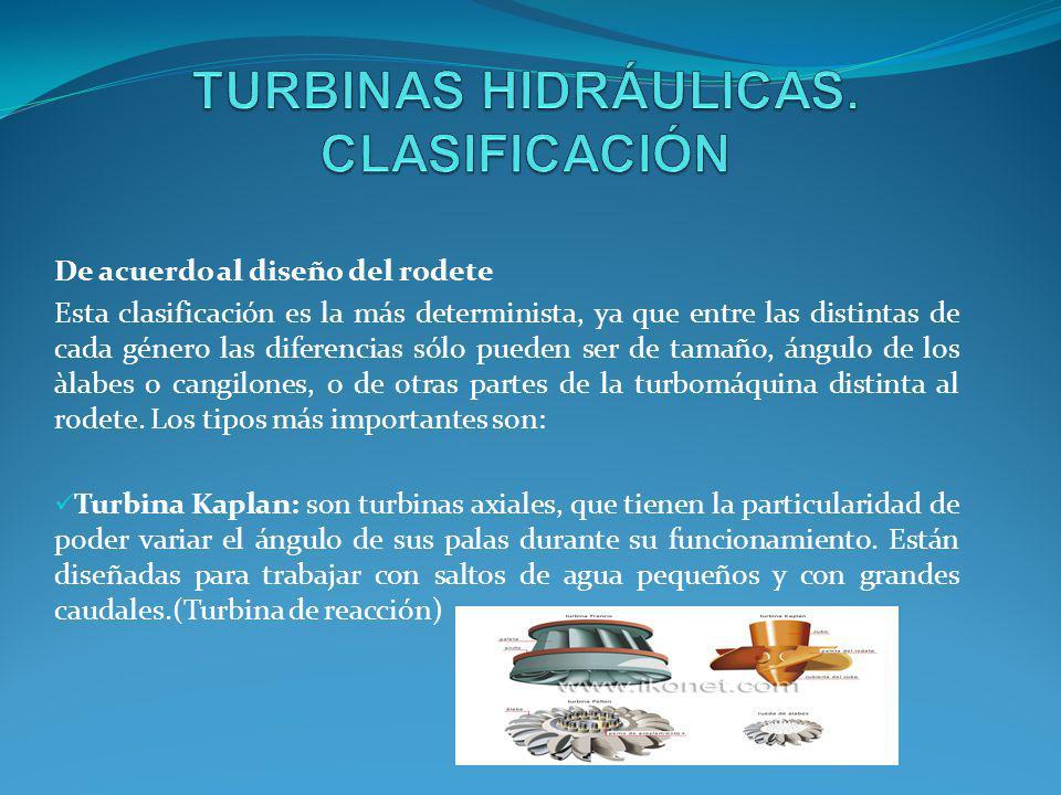 Las turbinas Kaplan son uno de los tipos mas eficientes de turbinas de agua de reacción de flujo axial, con un rodete que funciona de manera semejante a la hélice de un barco, y deben su nombre a su inventor, el austriaco Viktor Kaplan.