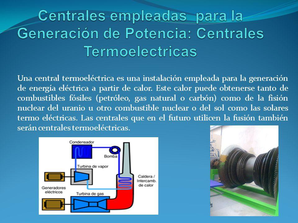 Una central termoeléctrica es una instalación empleada para la generación de energía eléctrica a partir de calor.