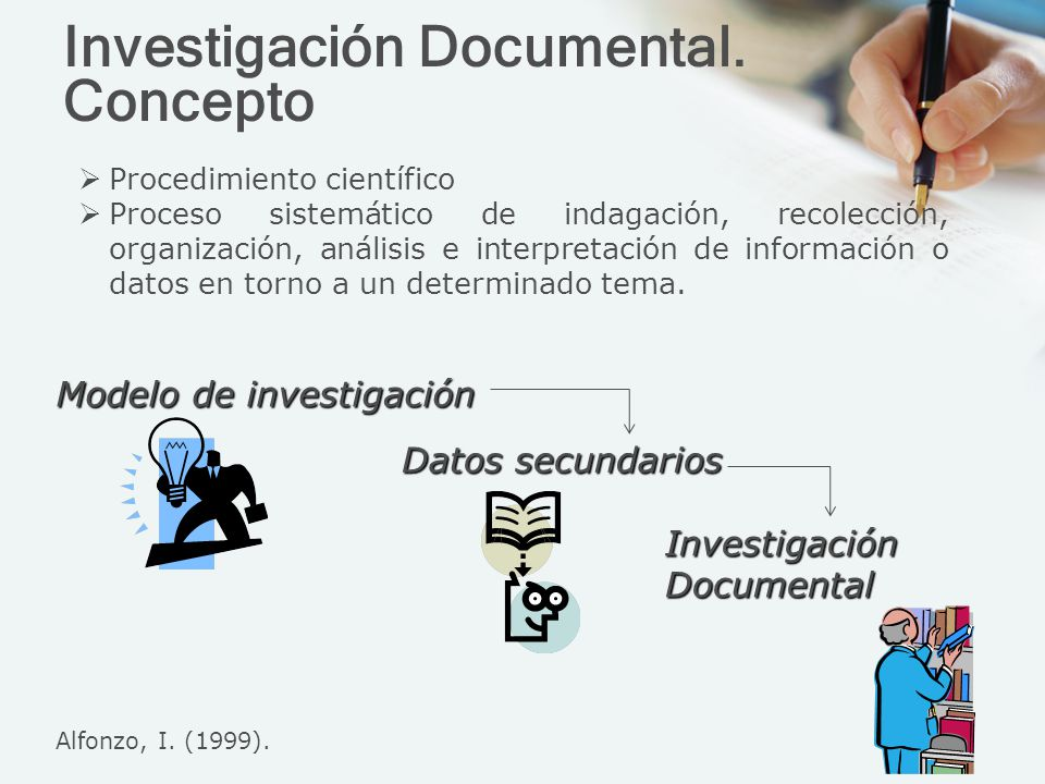 Investigación Documental. Concepto Procedimiento científico Proceso sistemático de indagación, recolección, organización, análisis e interpretación de