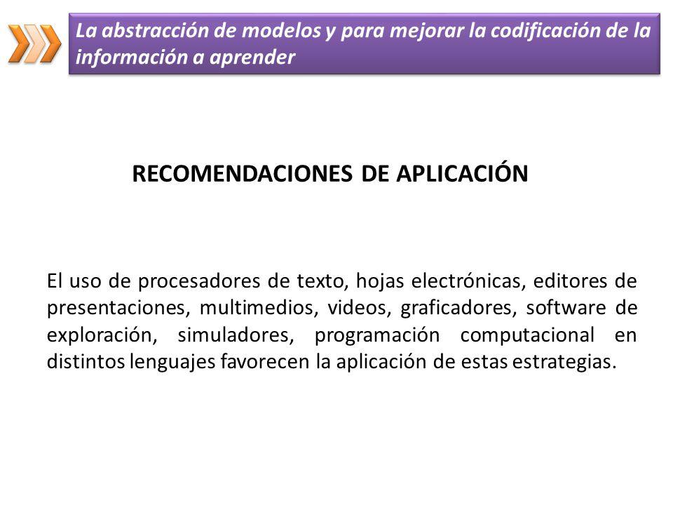 El uso de procesadores de texto, hojas electrónicas, editores de presentaciones, multimedios, videos, graficadores, software de exploración, simulador