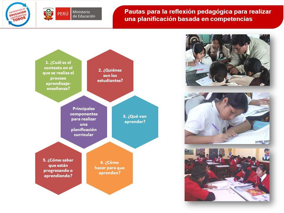 Considerar diversidad de acciones, roles, recursos y formas de organización del espacio y de los estudiantes, en función de las competencias y capacidades que se van a desarrollar.