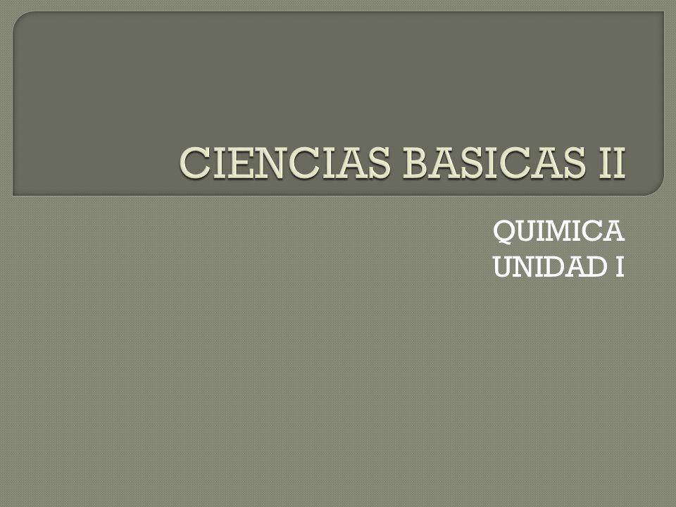 QUIMICA UNIDAD I