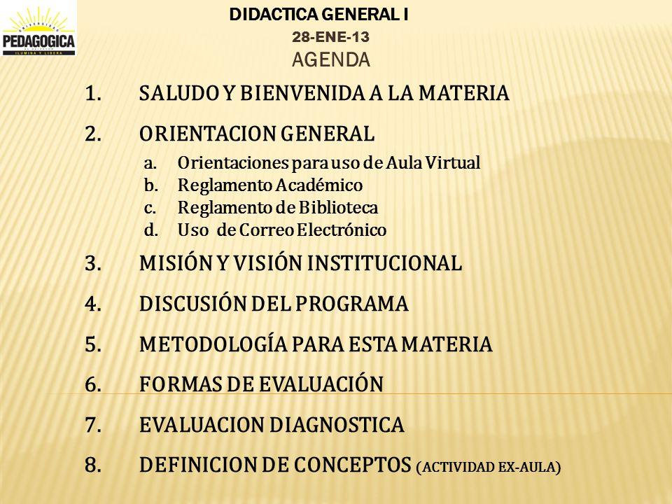 DIDACTICA GENERAL I 1.