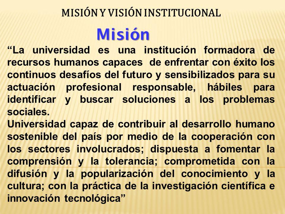 UNIVERSIDAD PEDAGOGICA RECURSOS HUMANOS DESAFIOS FUTUROS ACCION PROFESIONAL RESPONSABLE PROBLEMAS SOCIALES DESARROLLO HUMANO SOSTENIBLE DIFUSION CONOCIMIENTO POPULARIZACION CULTURAL COMPRENSIONTOLERANCIA INVESTIGACION CIENTIFICA INNOVACION TECNOLOGICA FORMADORA CONTRIBUYE COMPROMETIDA CON SENSIBILIZADOS PARA ENFRENTA EXITOSAMENTE BUSCAR SOLUCIONAR FOMENTA COMPROMETIDA CON Misión
