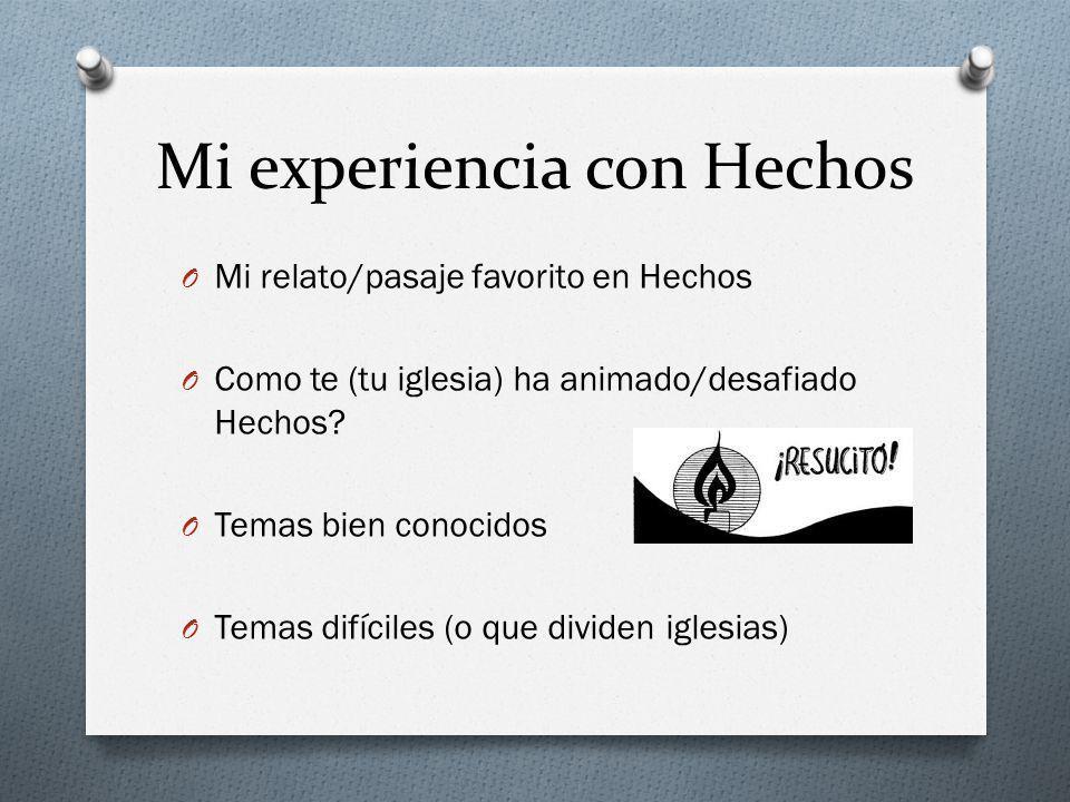 Concurso de Hechos 1.Quien es la persona principal de Hechos.