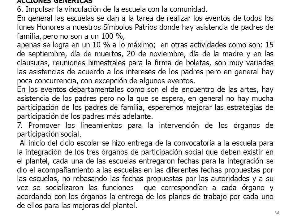 LINEA DE ACCION COMUNITARIA ACCIONES GENERICAS 6.