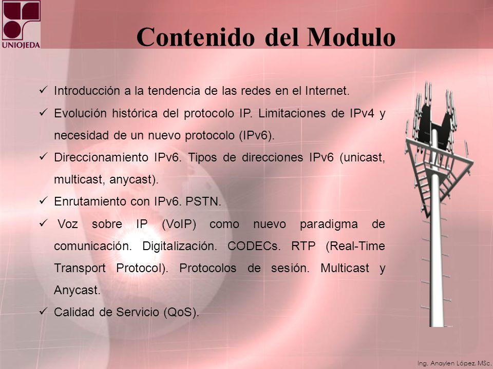 Ing. Anaylen López, MSc. Túnel IPv6 sobre IPv4
