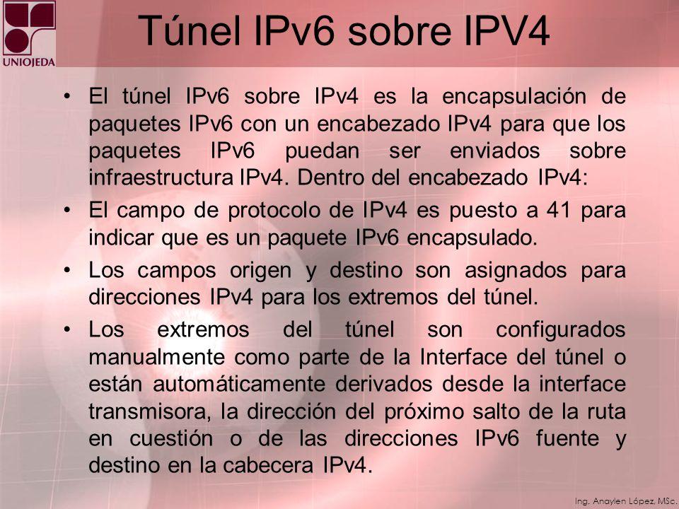 Ing. Anaylen López, MSc. Capa IP dual Es una implementación de la pila de protocolos TCP/IP que incluyen ambas, una capa de Internet IPv4 y una capa d