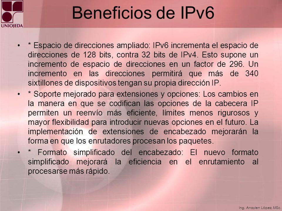 Ing. Anaylen López, MSc. Infraestructura DNS Una infraestructura DNS será necesaria para la coexistencia exitosa de ambos protocolos, debido al preval