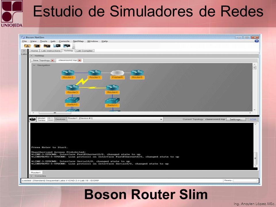 Ing. Anaylen López, MSc. Estudio de Simuladores de Redes Kiva Ns