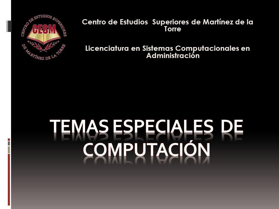 Centro de Estudios Superiores de Martínez de la Torre Licenciatura en Sistemas Computacionales en Administración