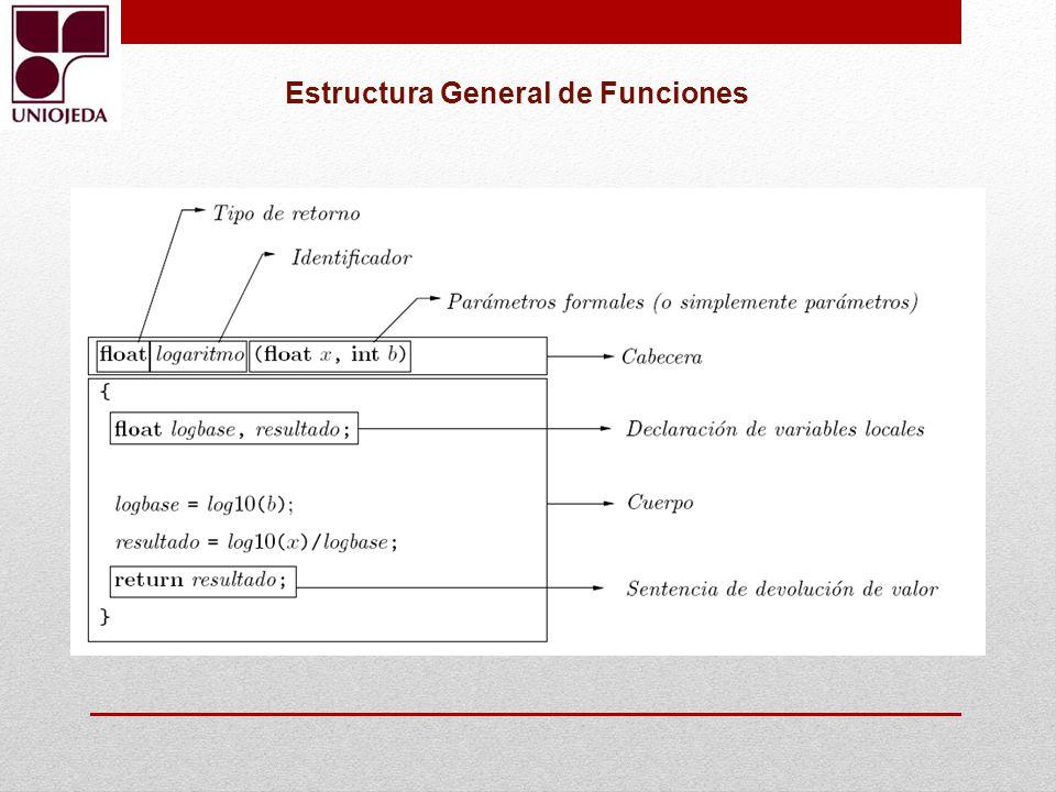 Estructura General de Funciones