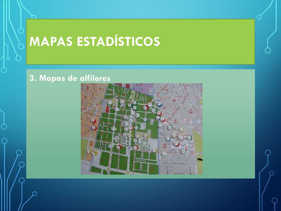 MAPAS ESTADÍSTICOS 3. Mapas de alfileres
