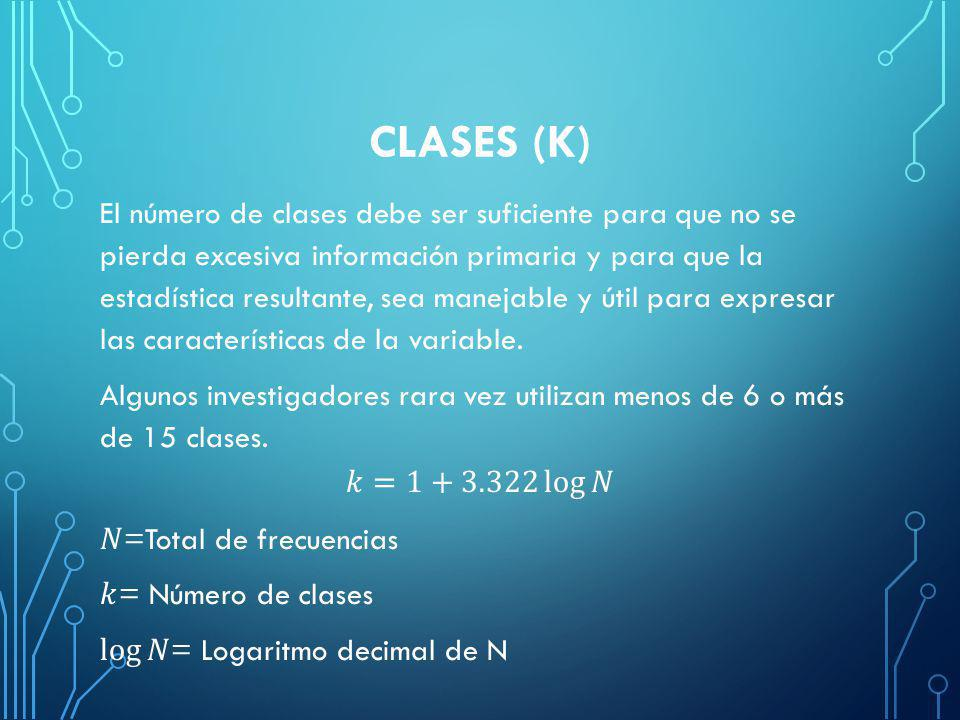CLASES (K)