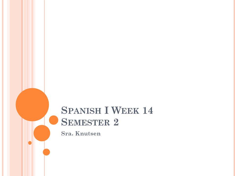 E NTRADA – EL LUNES, EL 14 DE MAYO Put each of these verbs into the preterite tense.