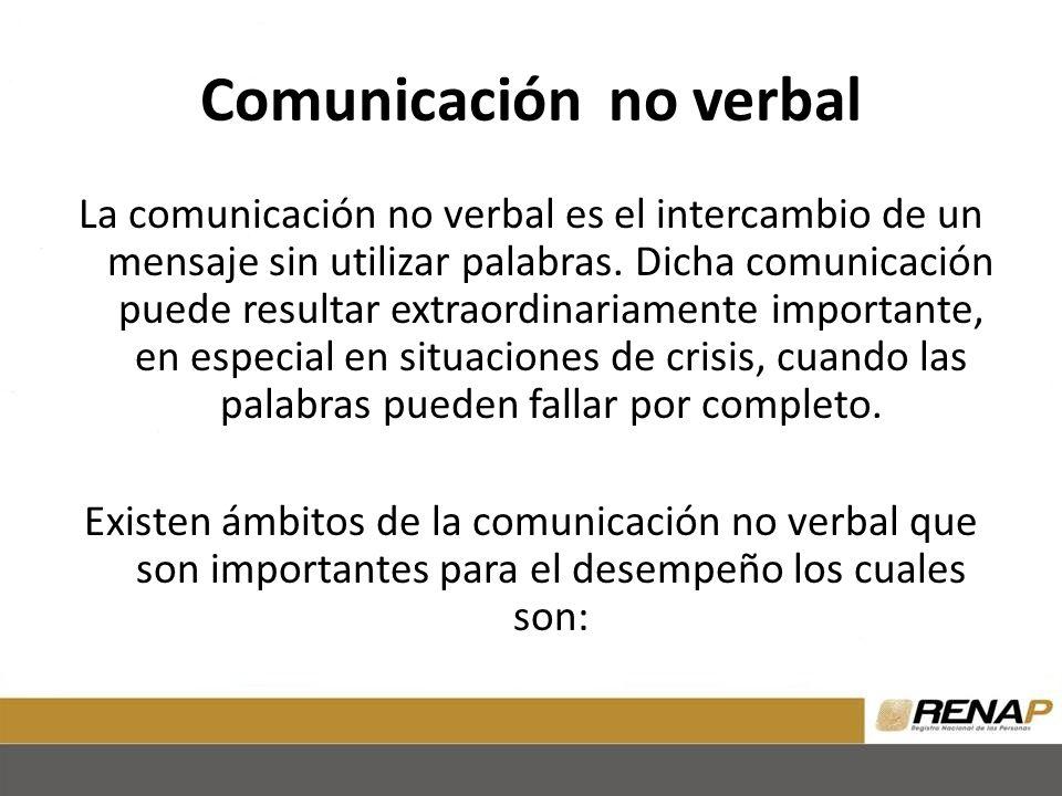 Comunicación no verbal La comunicación no verbal es el intercambio de un mensaje sin utilizar palabras.