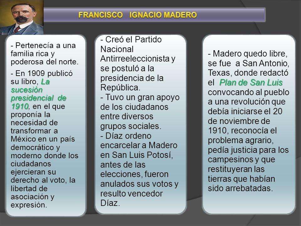 En Chihuahua, con Francisco Villa y Pascual Orozco; en Puebla, con los hermanos Aquiles, Máximo y Carmen Serdán; y en Morelos, con Emiliano Zapata.