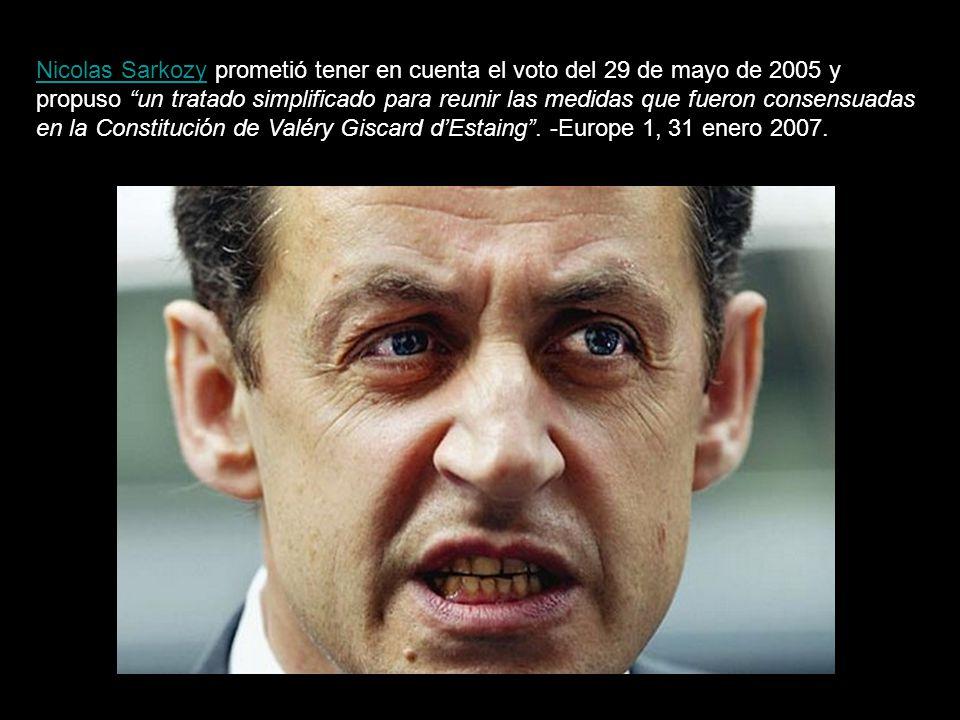 Una vez rechazado el Tratado constitucional por los ciudadanos de Holanda y Francia, la presidencia alemana de la Unión Europea presentó el 19 de mayo de 2007 un borrador para su reforma que incluía la esencia misma de dicha Constitución.