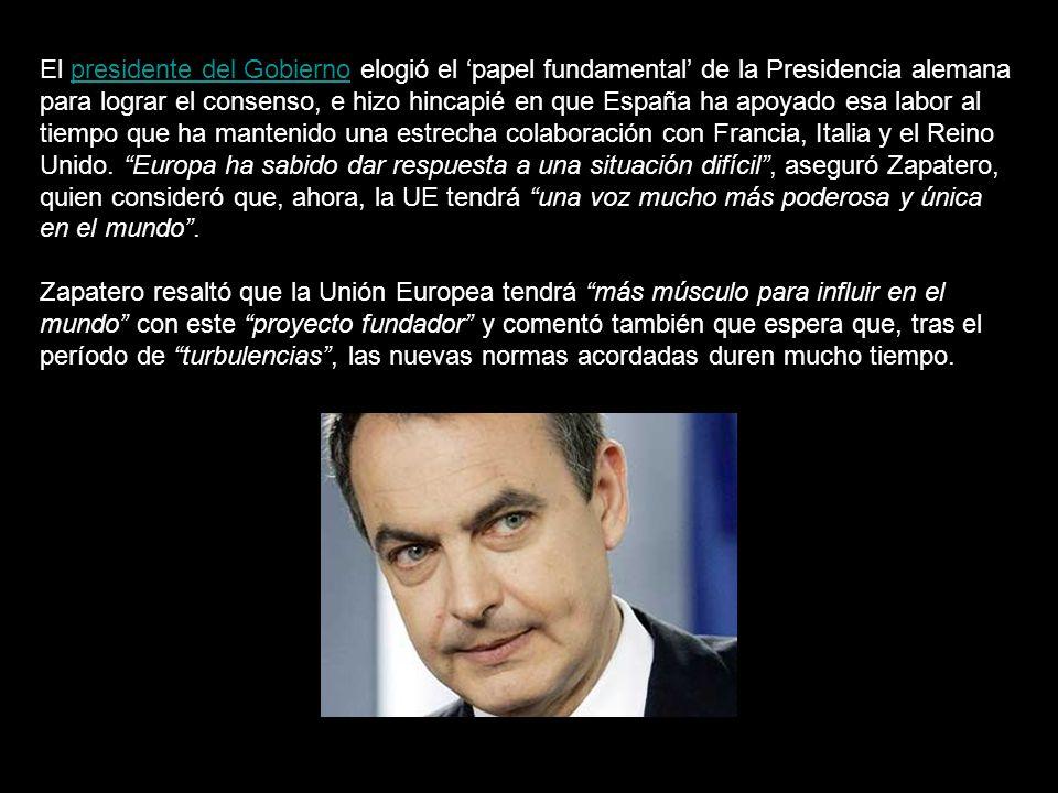 España fue el primer país que aprobó en referéndum - consultivo, NO vinculante - la malograda y nefasta Constitución, paso que no deberá superar el futuro y peor aún Tratado de Lisboa, debido a que Zapatero aseguró que sólo tendrá que ser ratificado por el Parlamento.