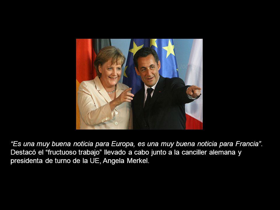 El presidente de Francia, Nicolas Sarkozy, se manifestó esta madrugada extremadamente satisfecho por el acuerdo alcanzado entre los 27 Estados miembros de la Unión Europea para un mandato claro y muy preciso de la Conferencia Inter Gubernamental (CIG) encargada de la redacción del futuro nuevo Tratado del bloque comunitario.Nicolas Sarkozy