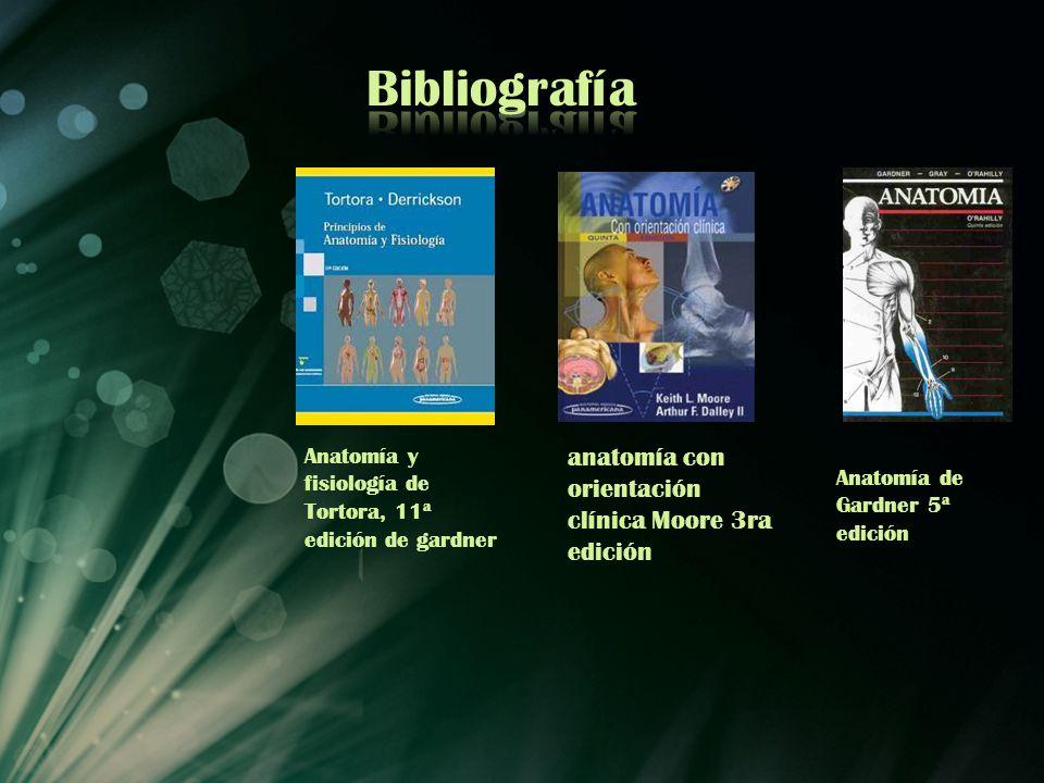 Anatomía de Gardner 5ª edición Anatomía y fisiología de Tortora, 11ª edición de gardner anatomía con orientación clínica Moore 3ra edición