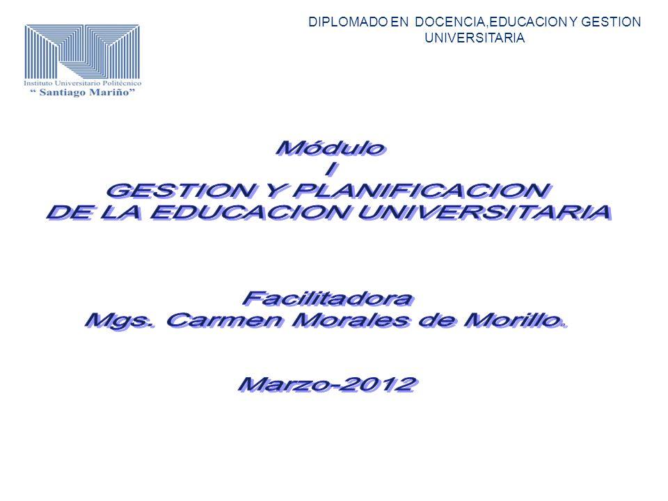 DIPLOMADO EN DOCENCIA,EDUCACION Y GESTION UNIVERSITARIA