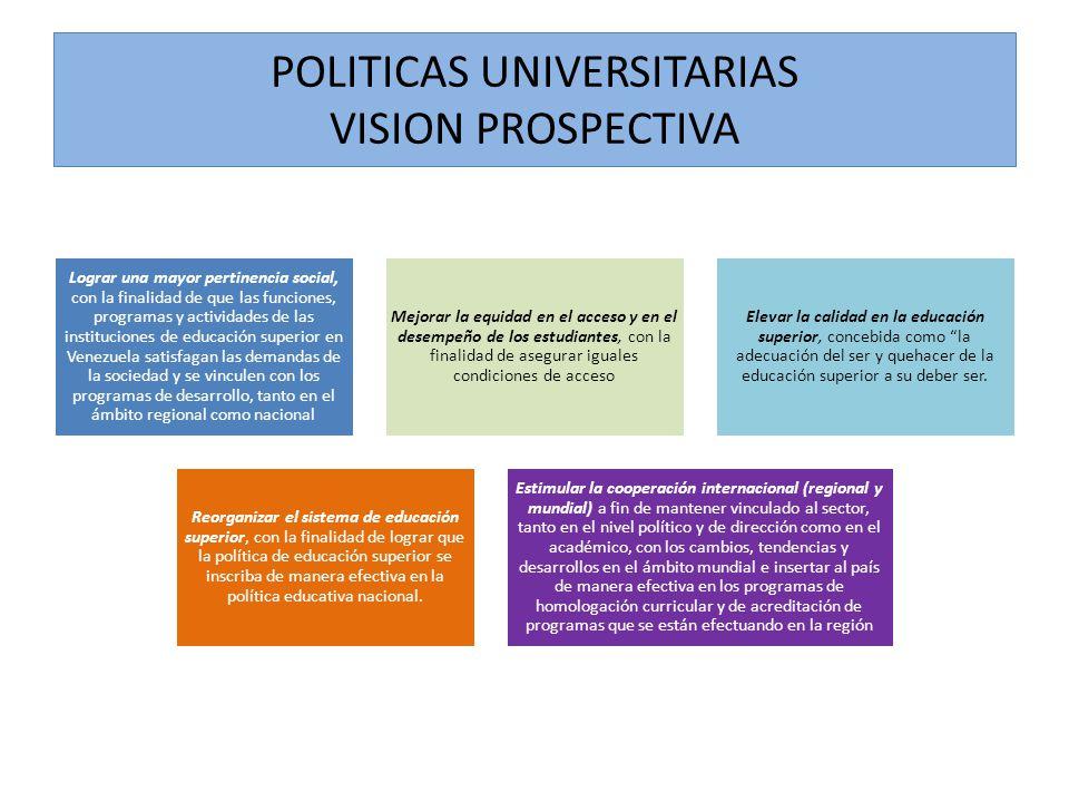 Lograr una mayor pertinencia social, con la finalidad de que las funciones, programas y actividades de las instituciones de educación superior en Vene
