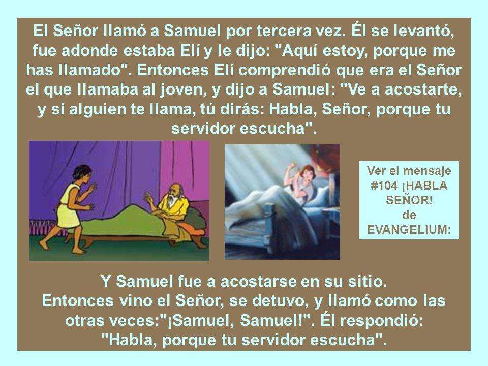 Samuel servía en la presencia del Señor; era un niño, y llevaba ceñido el efod de lino.