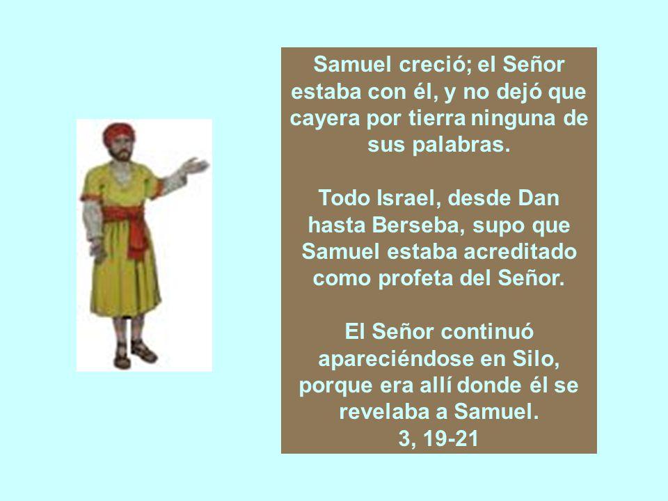 El Señor llamó a Samuel por tercera vez.