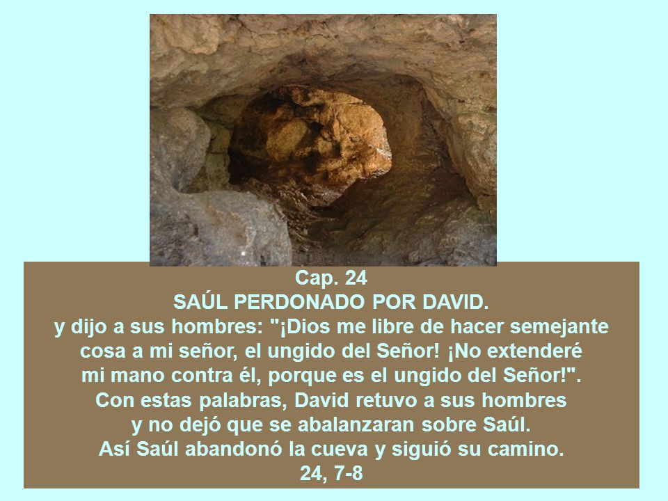 Cap.22 DAVID AL FRENTE DE UNA BANDA. LA MASACRE DE LOS SACERDOTES DE NOB.