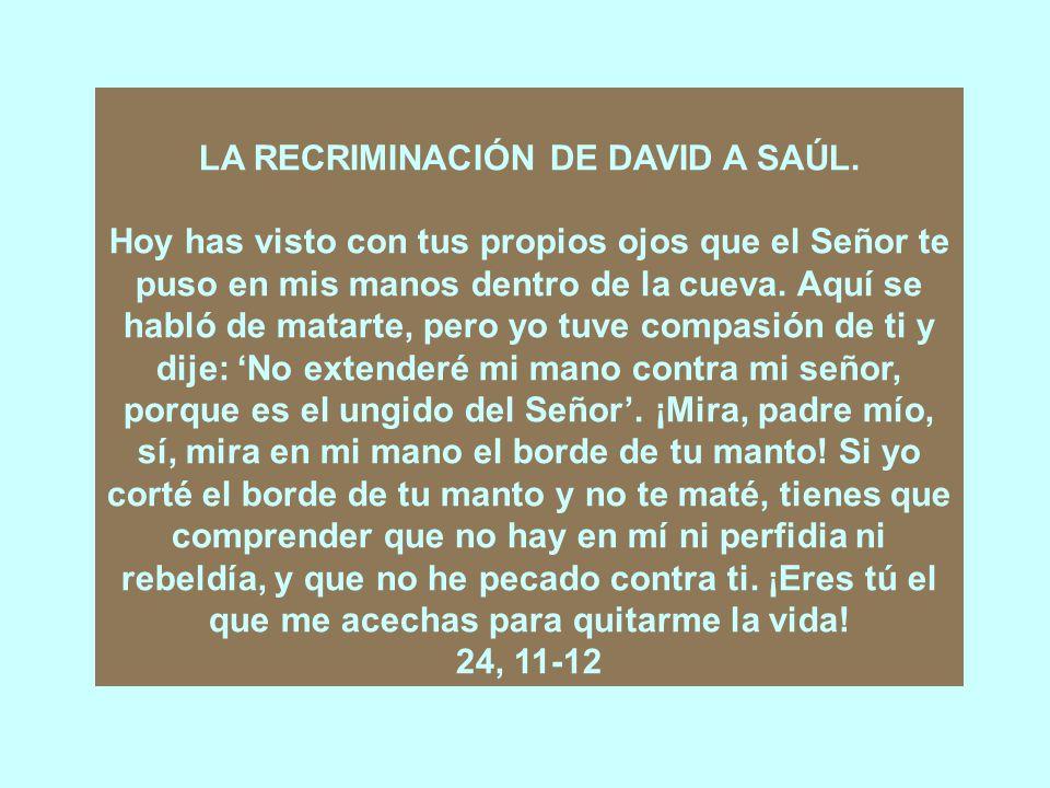 Cap.24 SAÚL PERDONADO POR DAVID.