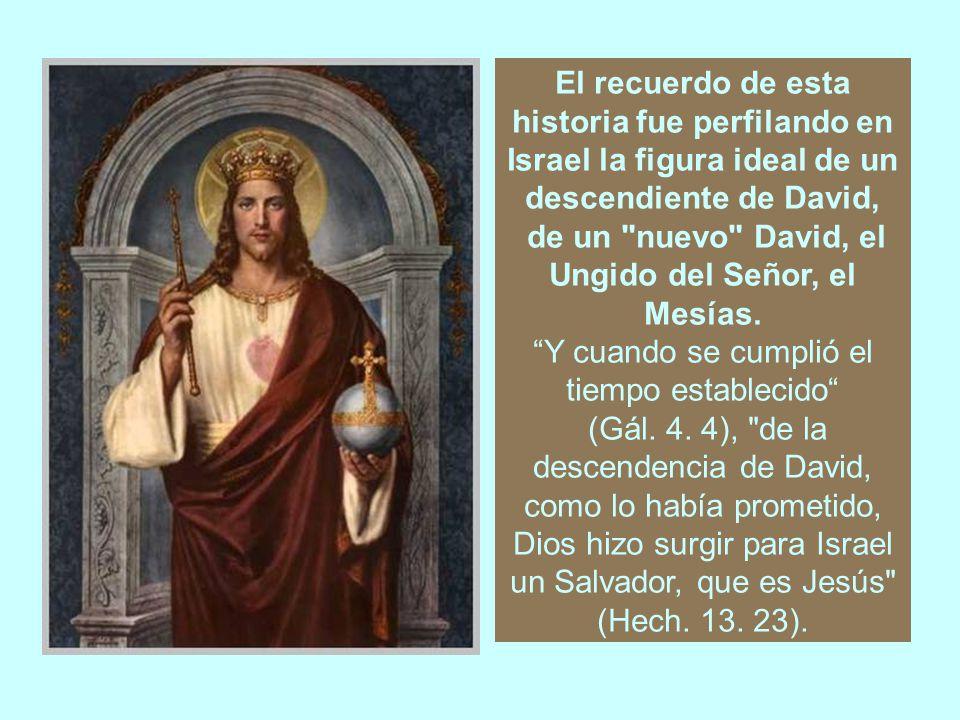 La trayectoria de David comienza con su incorporación a la corte del rey Saúl y culmina con su elevación al trono de Judá y de Israel.