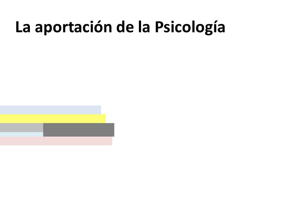 La aportación de la Psicología Personalidad: carácter y temperamento Etapas del ciclo vital (Infancia y adolescencia) Primera infancia (de 0 a 3 años).