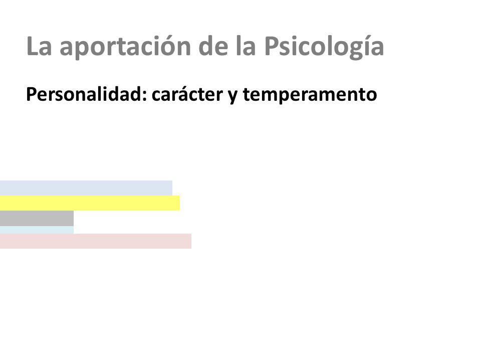 La aportación de la Psicología Personalidad: carácter y temperamento Etapas del ciclo vital (Infancia y adolescencia) Tercera infancia (de 6-7 a 12 años)