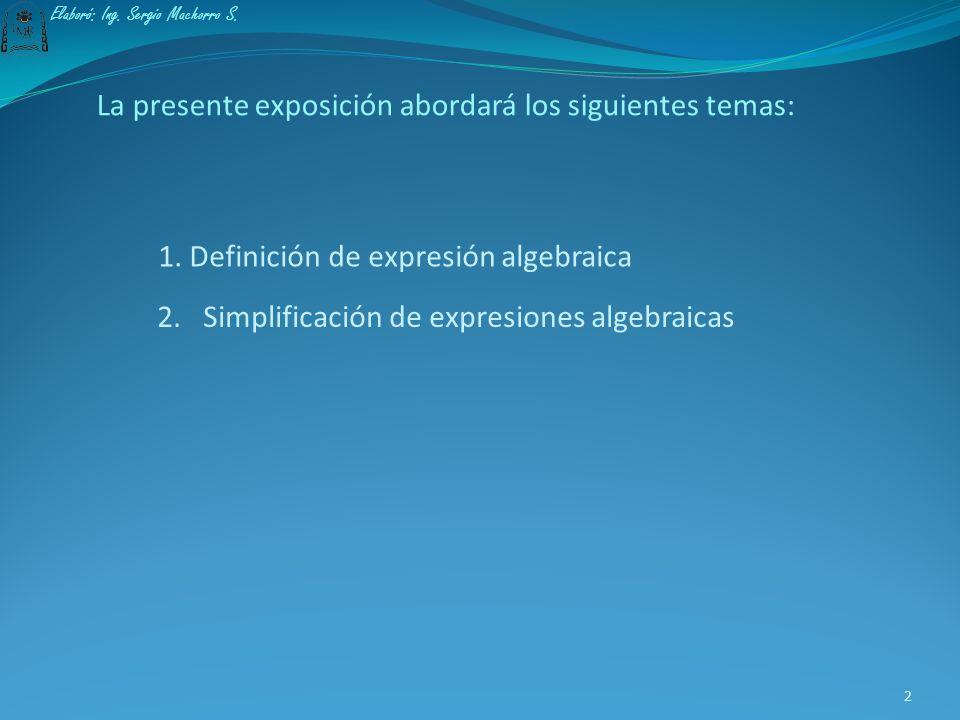1 Elaboró: Ing. Sergio Machorro S.