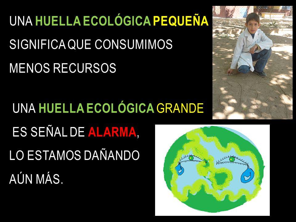 El impacto de una persona, ciudad o país sobre la TIERRA para satisfacer lo que consume y para absorber sus residuos se lo conoce como: Visitá LA HUEL