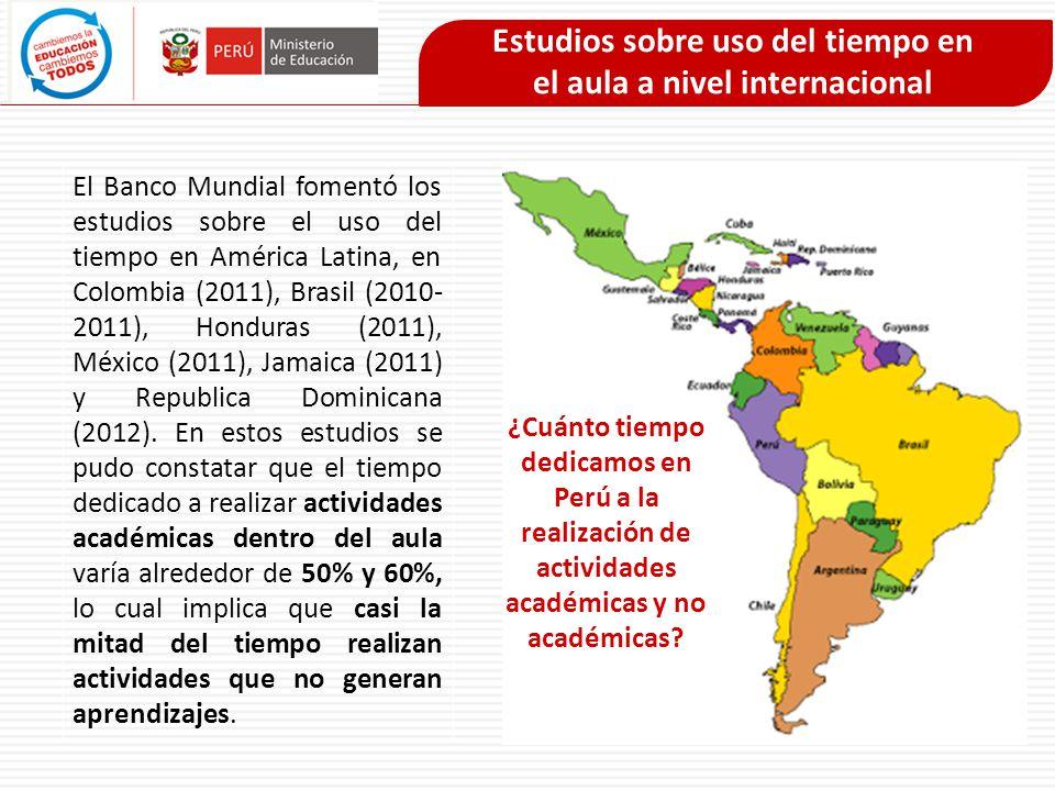 El Banco Mundial fomentó los estudios sobre el uso del tiempo en América Latina, en Colombia (2011), Brasil (2010- 2011), Honduras (2011), México (201