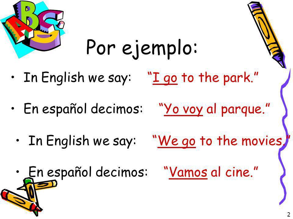 1 El Verbo IR IR es el infinitivo No hay una raíz El verbo IR es IRREGULAR En español IR significa to go