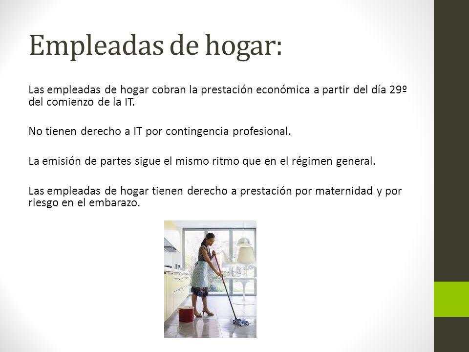 Empleadas de hogar: Las empleadas de hogar cobran la prestación económica a partir del día 29º del comienzo de la IT.