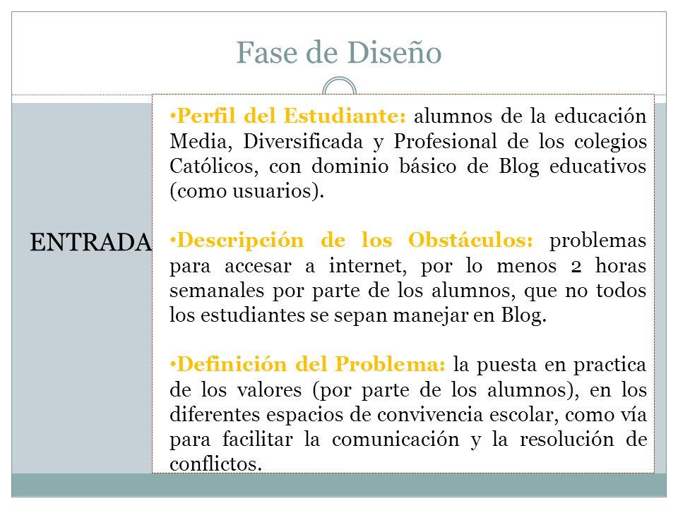 Fase de Diseño PROCESO Escribir los Objetivos: 1.